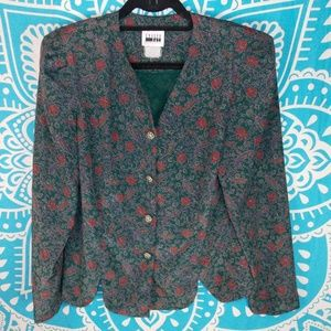 Vintage Ugly Christmas Style Button Up  Blazer L